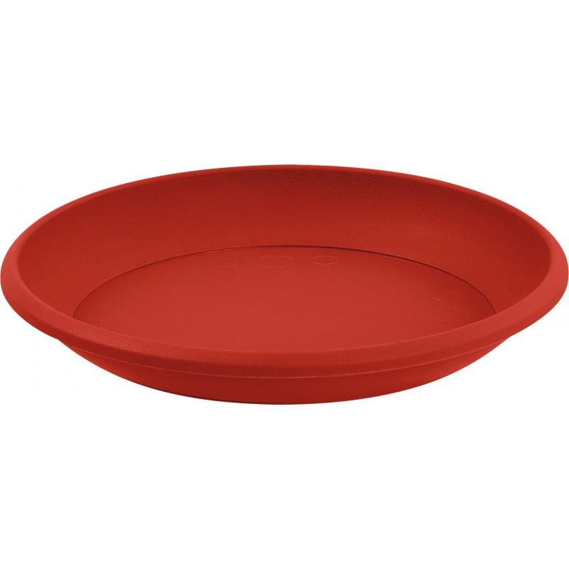 Soucoupe Marina Eda - Diamètre 15 cm - Compatible avec Pot 2 l - Rubis