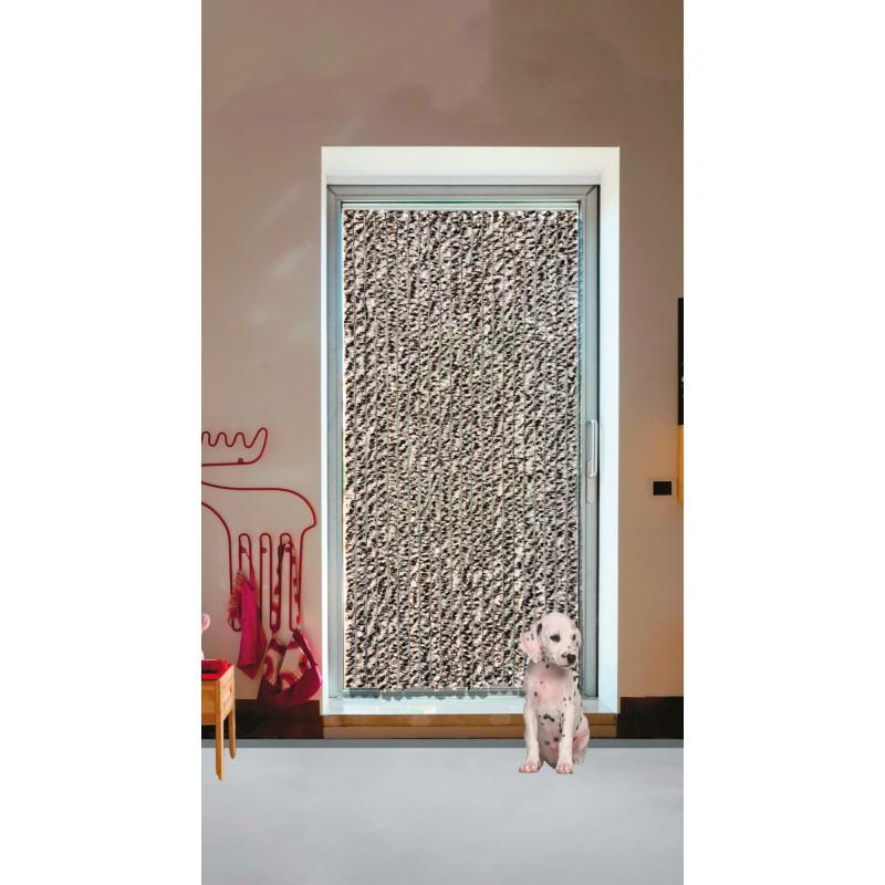 rideau chenille de porte synth tique flash morel largeur. Black Bedroom Furniture Sets. Home Design Ideas