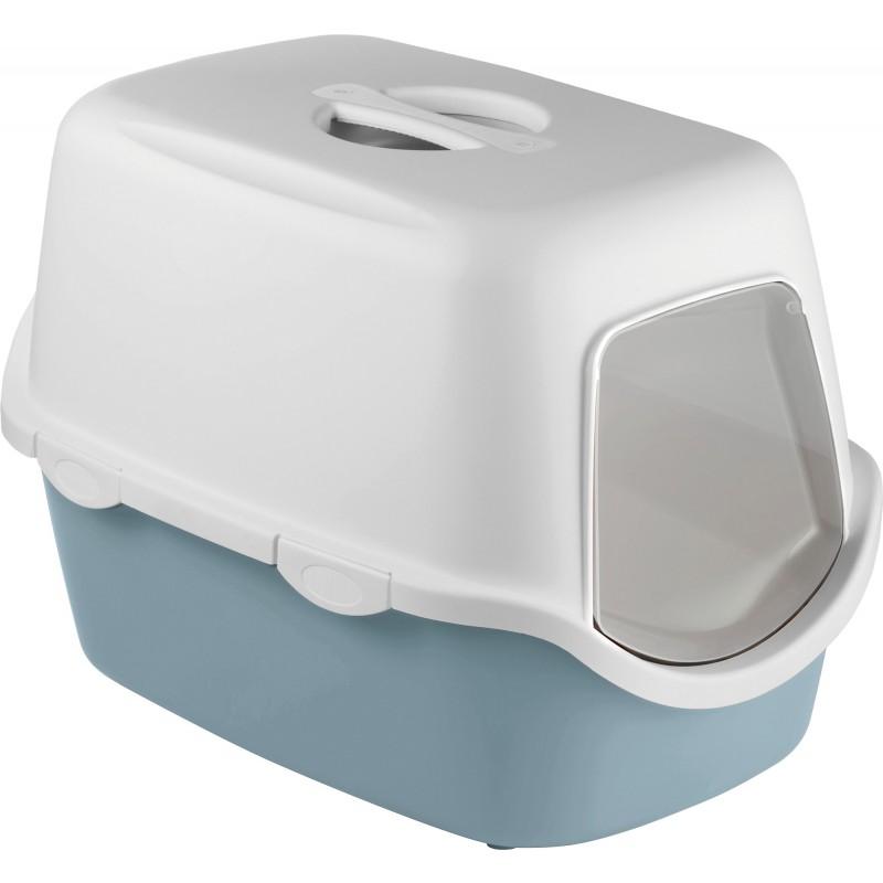 Maison toilette pour chat filtre Cathy Zolux - Gris bleu