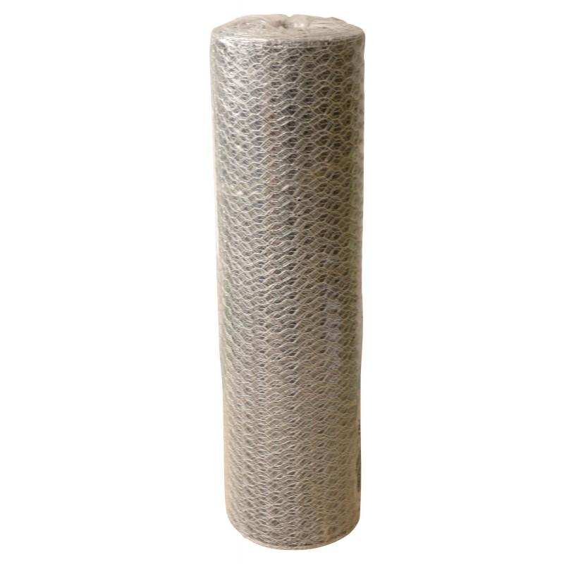 Grillage triple torsion galvanisé Filiac - Longueur 10 m - Hauteur 0,5 m - Maille 40 mm