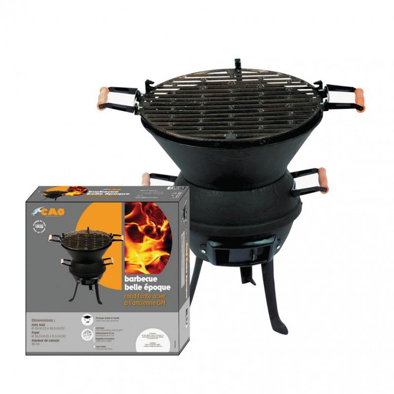 Barbecue rond fonte acier à l'ancienne GM
