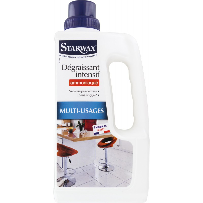 Nettoyant ammoniaqué multi-usages Starwax - Nettoyages difficiles - Flacon 1 l