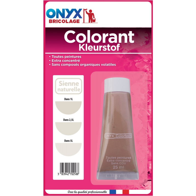 Colorant universel 25 ml Onyx - Sienne naturelle