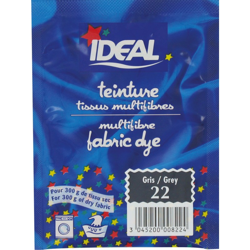 Teinture tissu main-machine Ideal - Sachet 15 g - Gris n°22