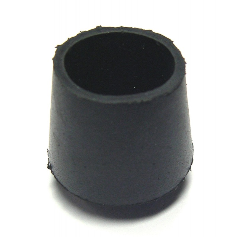 Embout enveloppant caoutchouc noir Shepherd - Diamètre 25 mm - Vendu par 16