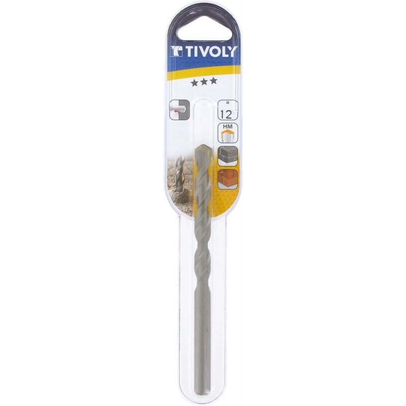 Foret à béton usage fréquent Tivoly - Longueur 150 mm - Diamètre 12 mm - Vendu par 1
