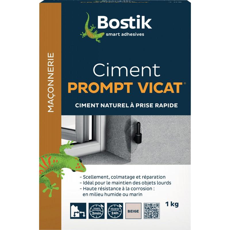 Ciment prompt vicat Bostik - Boîte 1 kg