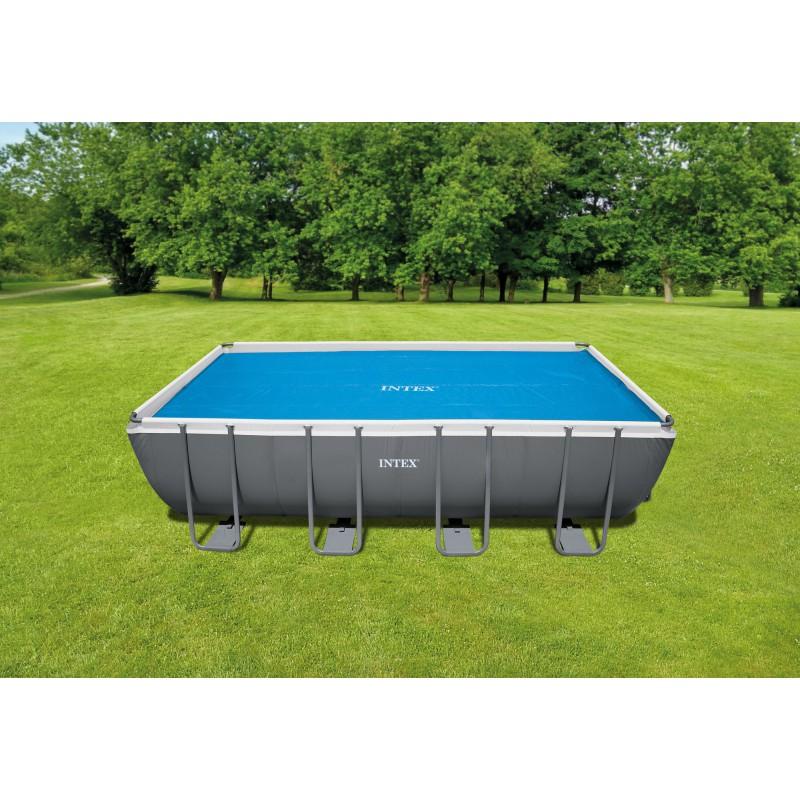 bâche à bulles intex  pour piscine rectangulaire 549 x 2