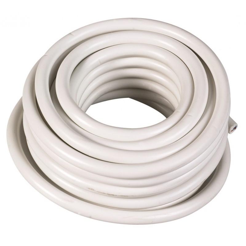 Câble H05 VV-F 1,5 mm² - Couronne 50 m - 3G 1,5 mm² - Blanc