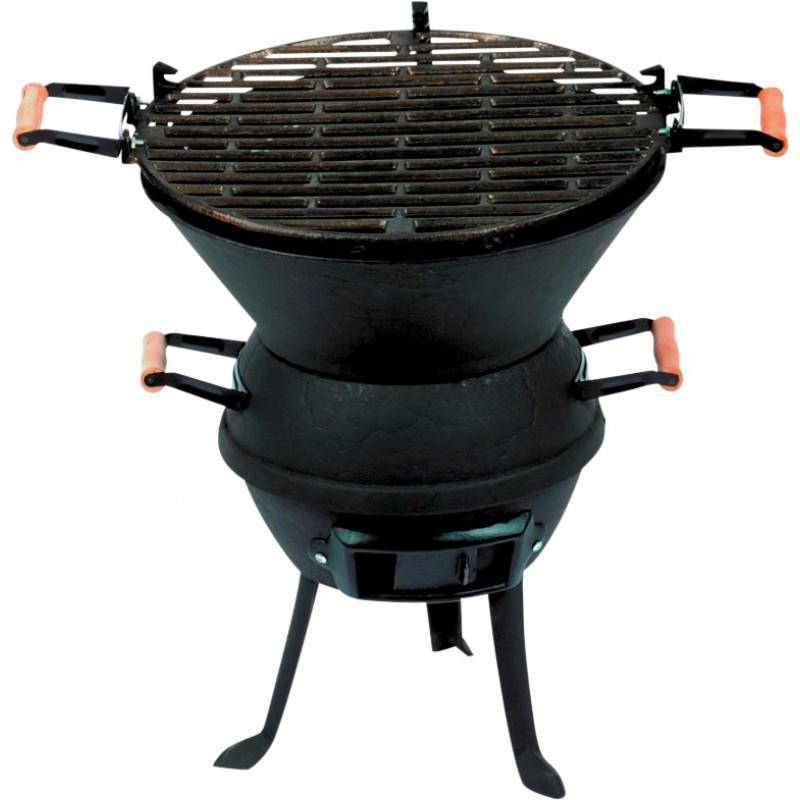 barbecue rond fonte acier l 39 ancienne gm belle poque cao camping de barbecue d 39 ext rieur. Black Bedroom Furniture Sets. Home Design Ideas