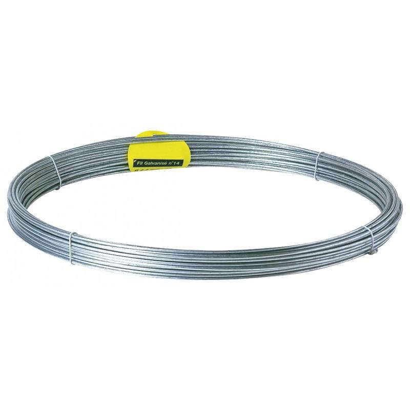 Fil de tension galvanisé Filiac - Longueur 100 m - Diamètre 2,2 mm