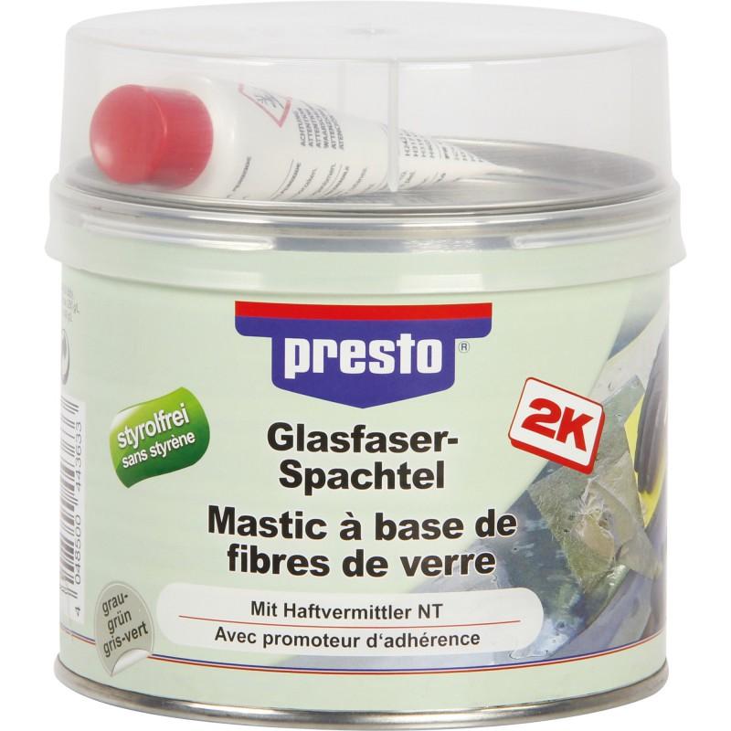 Mastic polyester avec fibre de verre Presto - 1 kg