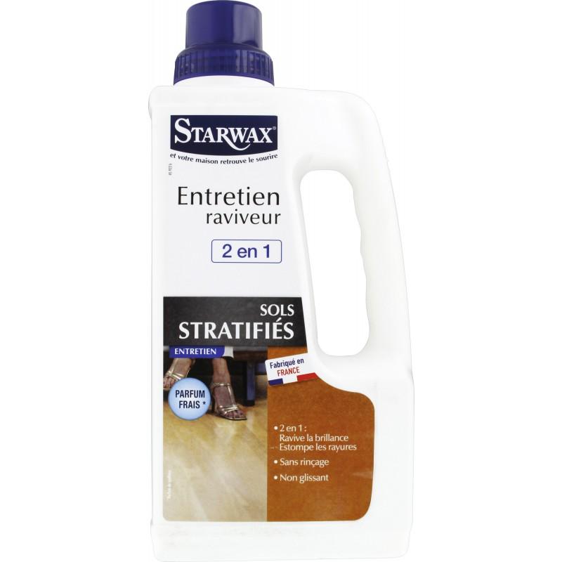 Entretien raviveur sols stratifiés Starwax - Flacon 1 l