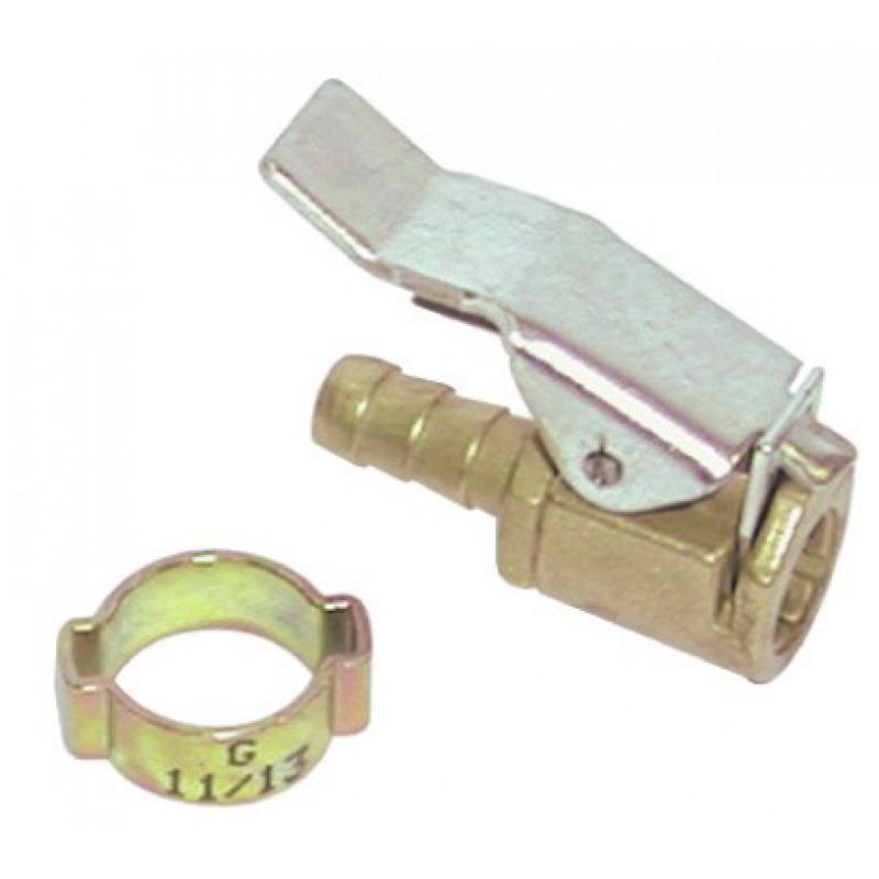 Embout cannelé à grosse valve pour auto et VTT Mecafer - Pour tuyau 6 mm