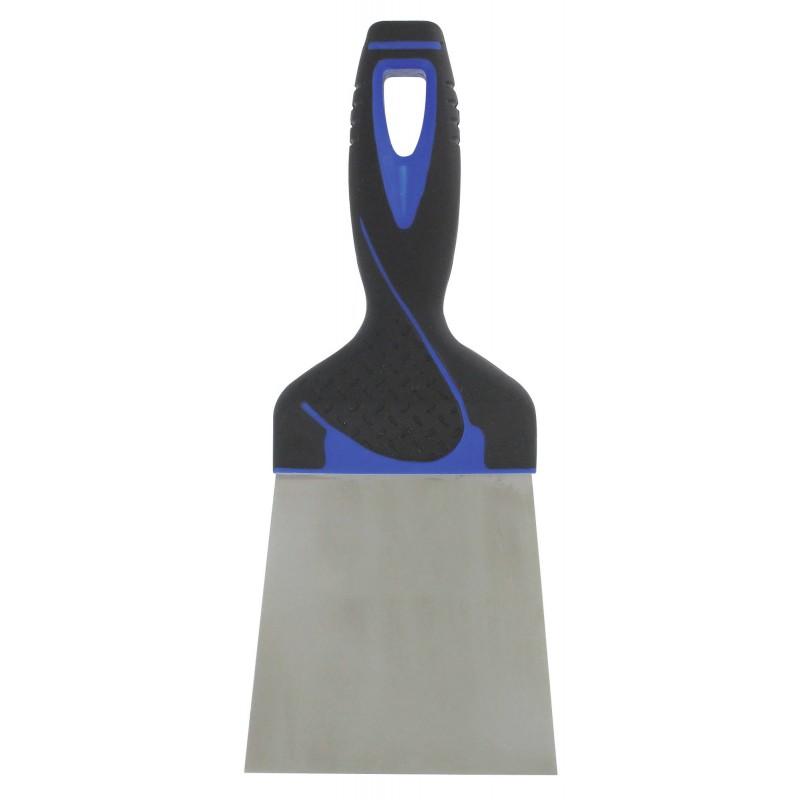 Couteau à enduire inox - Manche bi-matière Outibat - Dimensions 18 cm