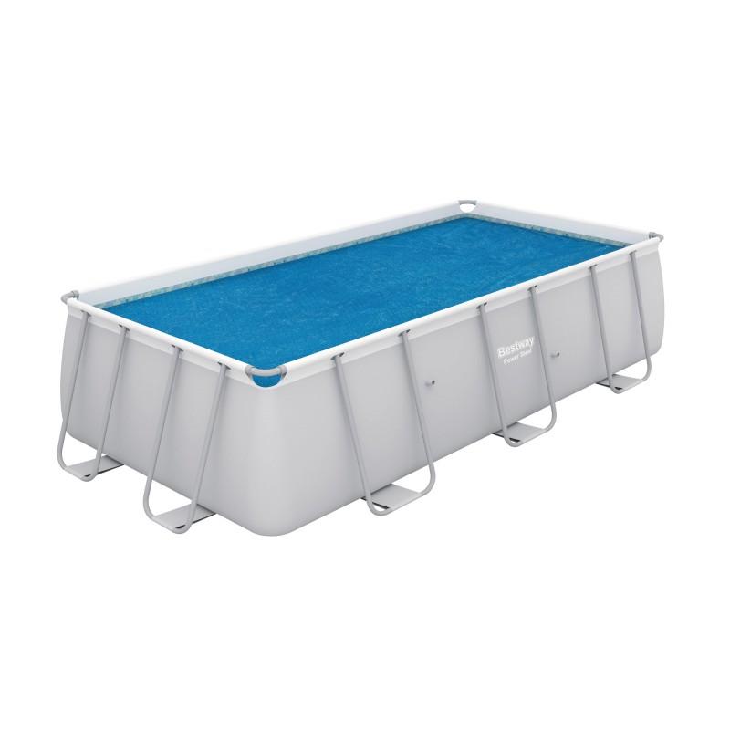 Bâche solaire pour piscine Flowclear  Bestway - Longueur 3,8 m - Largeur 1,8 m