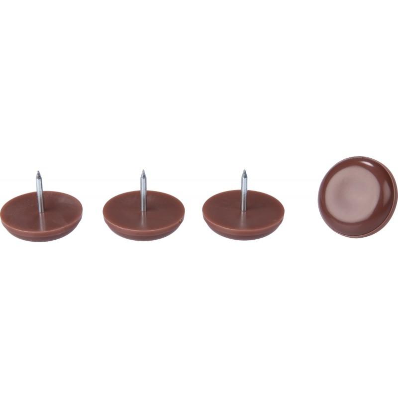 Patin glisseur à clouer spécial meubles bois extérieurs 3M - Diamètre 30 mm - Vendu par 4