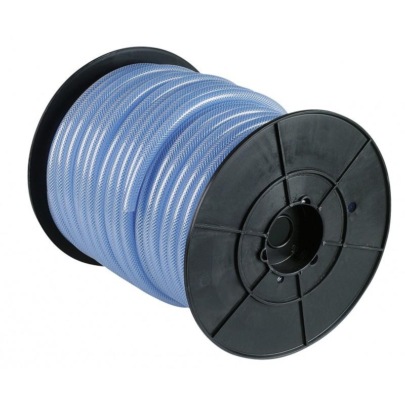Bobine dévidoir cristal tressé armé Cap Vert - Longueur 45 m - Diamètre intérieur 10 mm - Extérieur 16 mm
