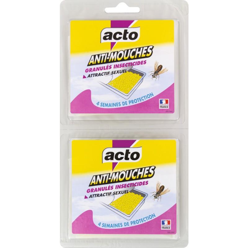 Sachet de granulés pour piège à mouche Acto - 2 x 20 g