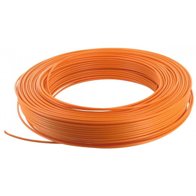Fil H07 V-U 1,5 mm² - Couronne 100 m - Orange