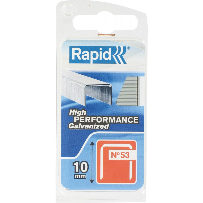 Agrafe n°53 Rapid Agraf - Hauteur 10 mm - 1080 agrafes