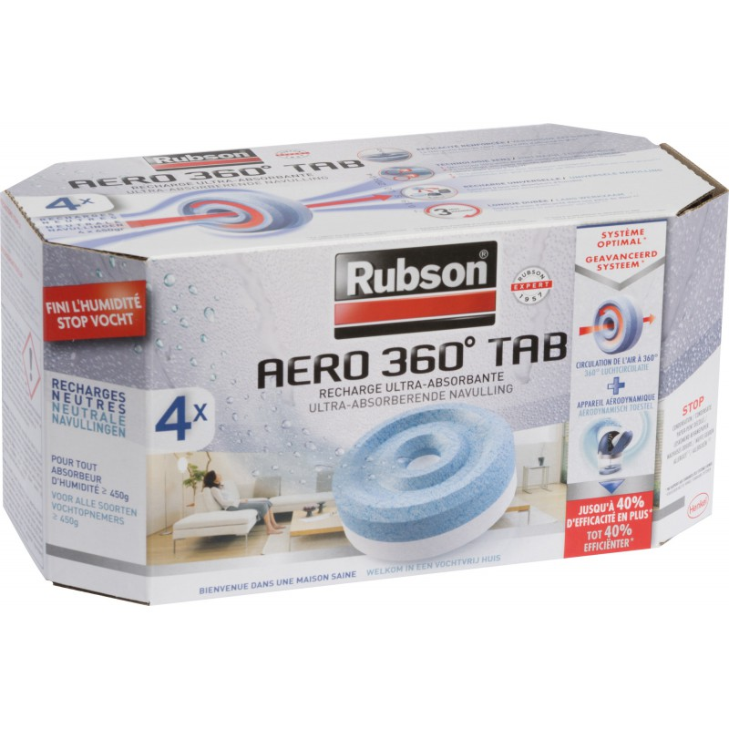 Recharge Power Tab Rubson - Vendu par 4