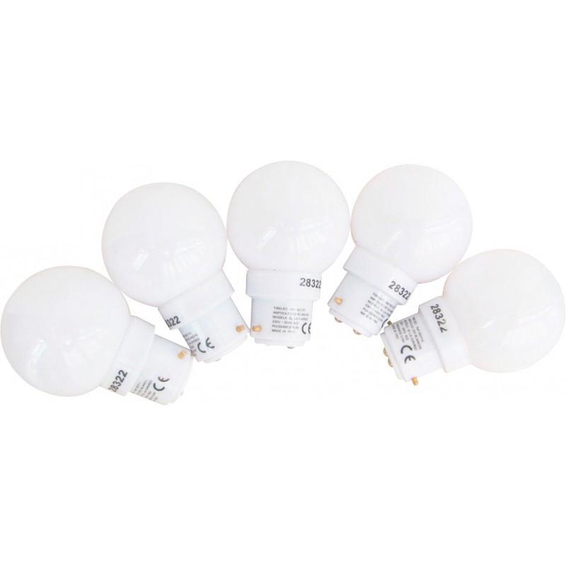 Ampoule sphérique blanche LED B22 pour guirlande Tibelec - Vendu par 5