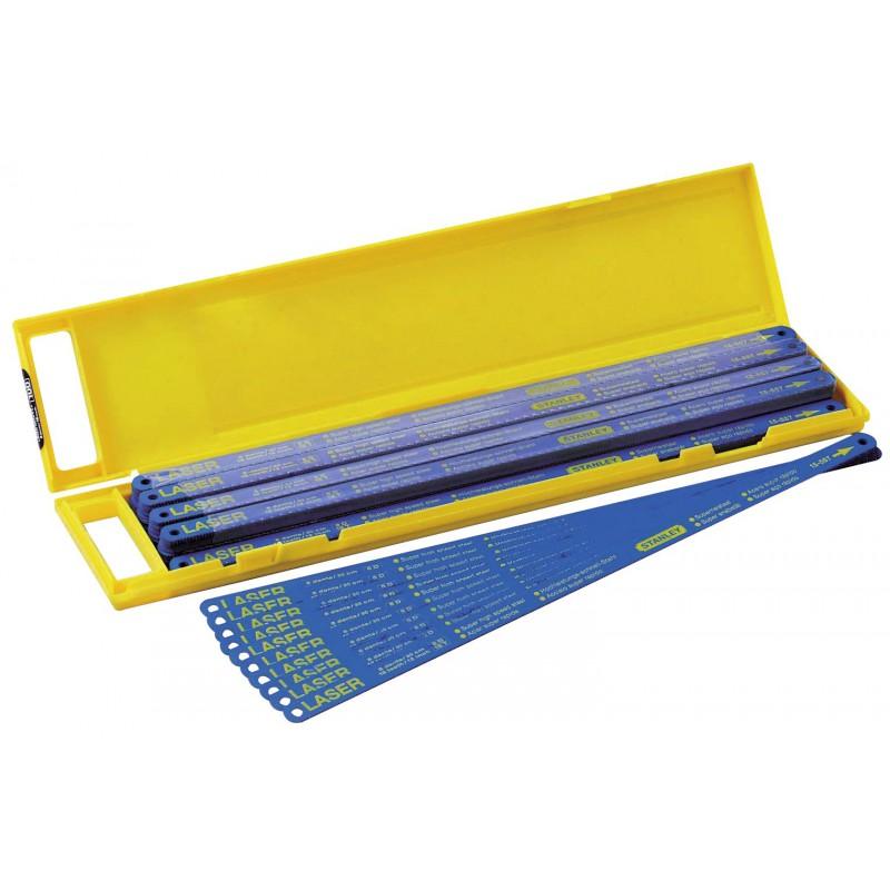 Lame de scie à métaux bi-métal Stanley - 10 dents/pouce - Longueur 300 mm - Vendu par 5