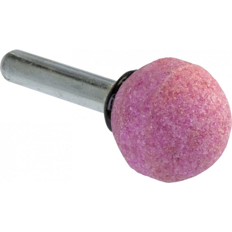 Meule sur tige au corindon rose SCID - Sphérique - Diamètre 20 mm