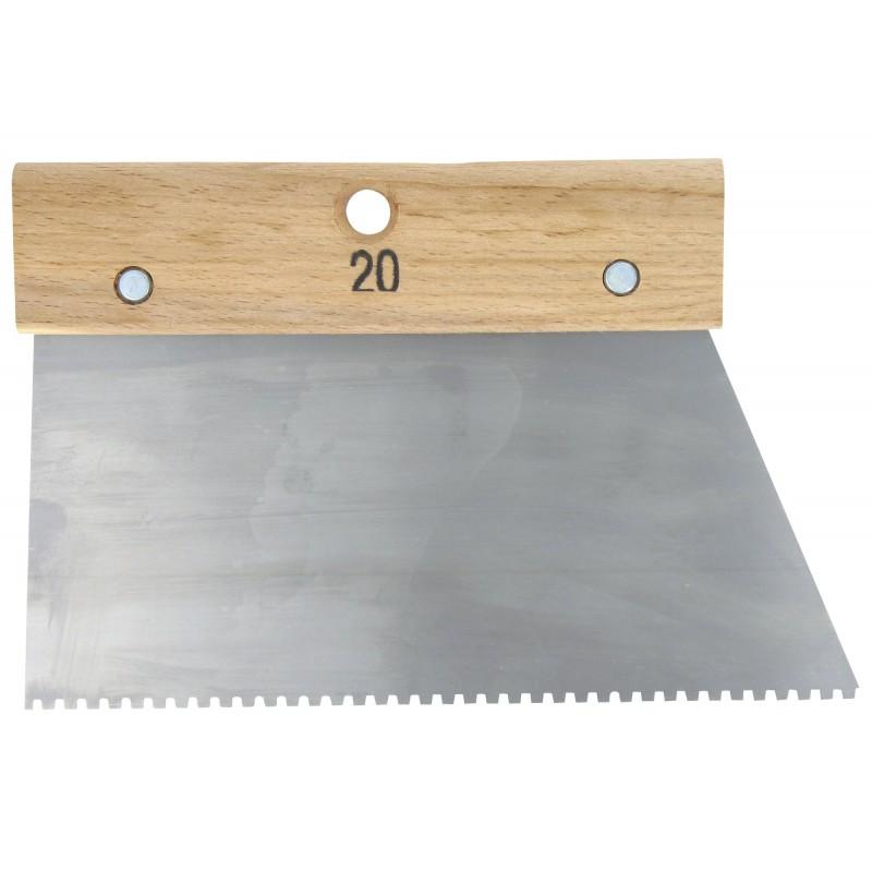 Couteau à colle Outibat - Denture carrée normale - 2,5 x 2,5 mm - Dimensions 200 mm