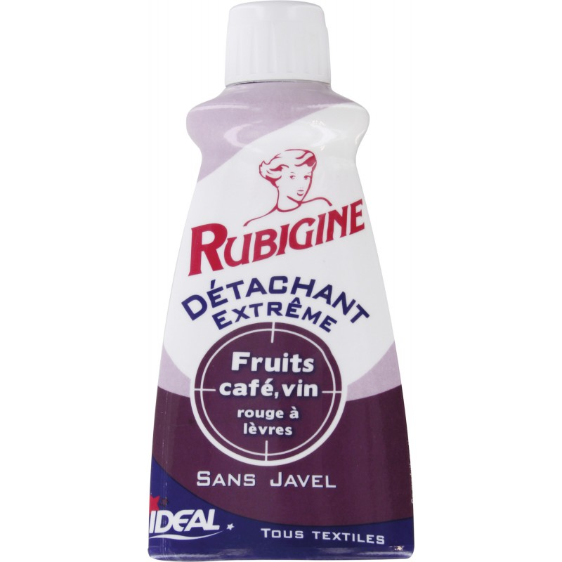 Détachant tâches organiques Rubigine - Flacon 100 ml - Fruit / café / vin