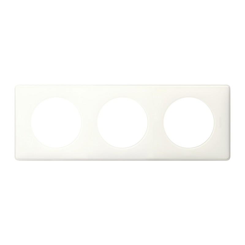 Plaque 3 postes Legrand - Céliane - Mémories - Yesterday blanc