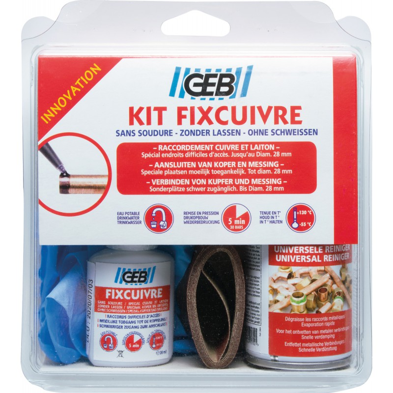 Kit fixcuivre canalisations sanitaires - Geb