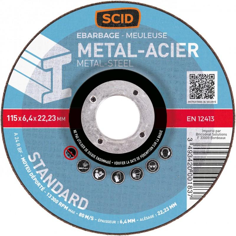 Disque à ébarber SCID - Métaux - Diamètre 115 mm