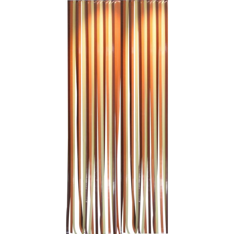 Rideau de porte lani re antilles morel 120 x 220 cm - Rideau de porte exterieur plastique ...