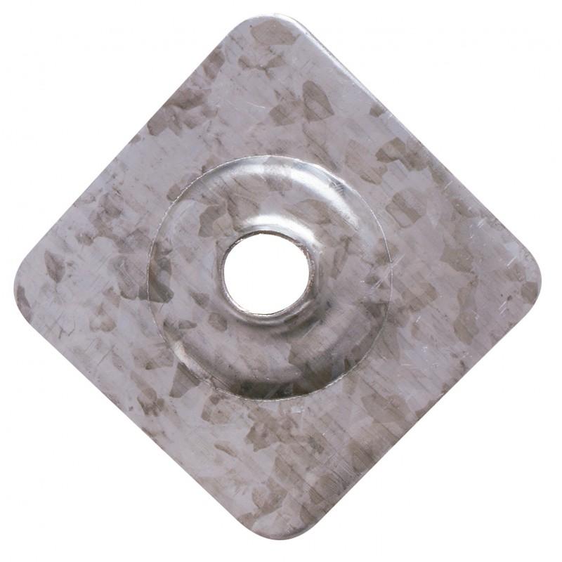 Plaquette pour plaque fibre ciment - Longueur 40 mm - Largeur 40 mm - Epaisseur 8,5 mm - Vendu par 100