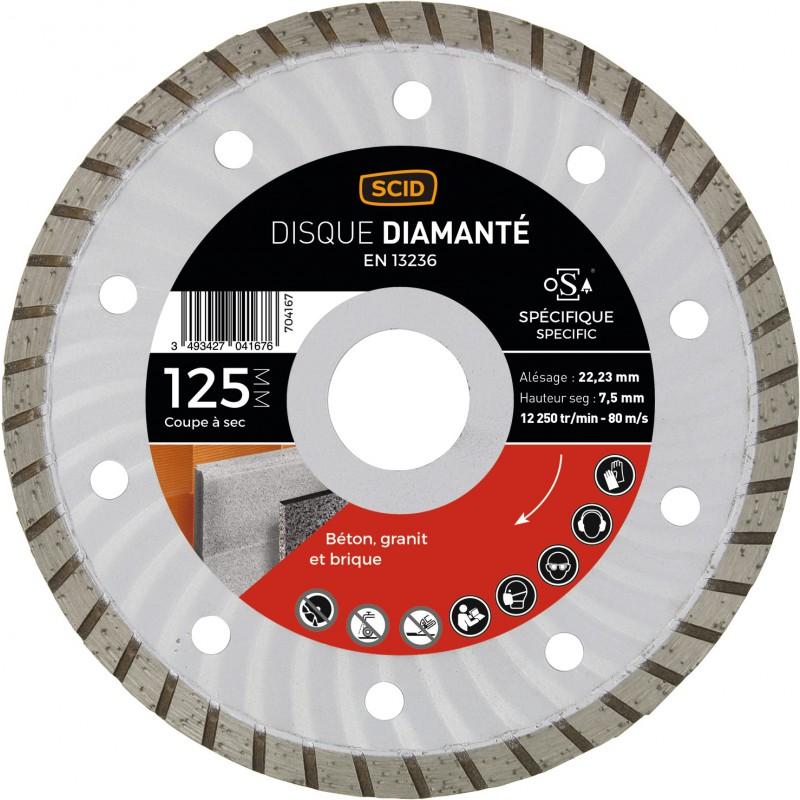 Disque diamanté spécifique crénelé SCID - 125 mm