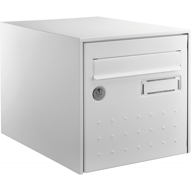 Boîte aux lettres blanche double face STEEL BOX