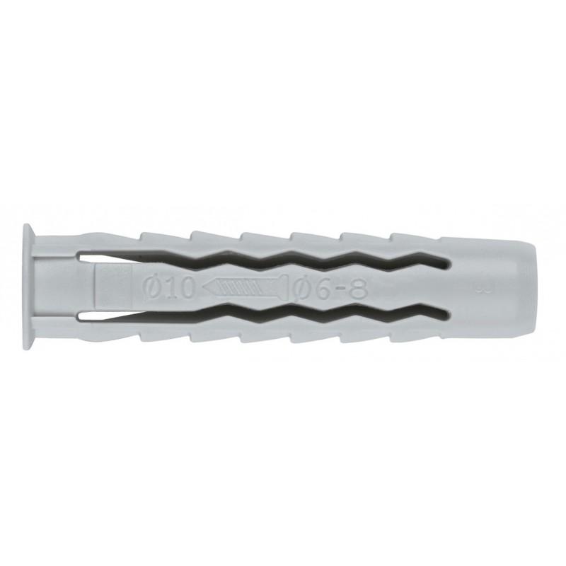 Cheville nylon quadruple expansion Fix'Pro - Longueur 30 mm - Diamètre 6 mm - Vendu par 25