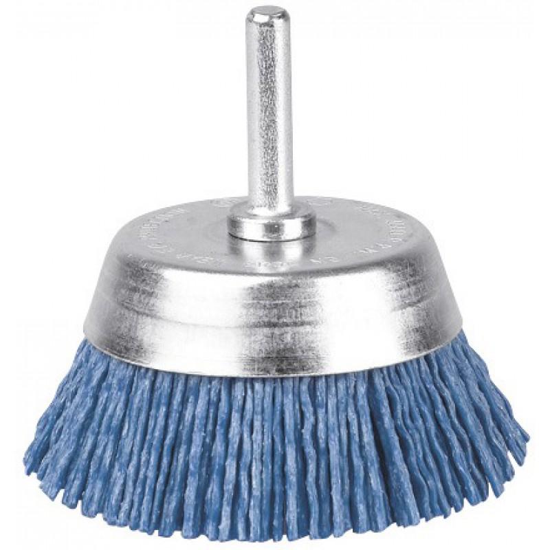 Brosse conique nylon bleu SCID - Diamètre 75 mm
