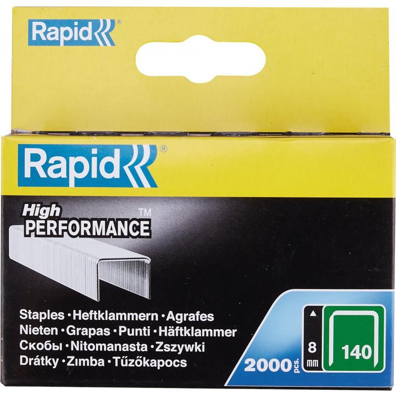 Agrafe n°140 Rapid Agraf - Hauteur 8 mm - 2000 agrafes