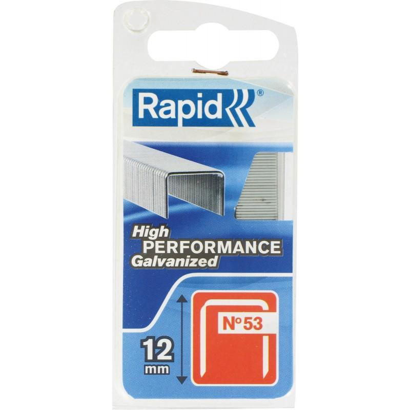 Agrafe n°53 Rapid Agraf - Hauteur 12 mm - 1080 agrafes