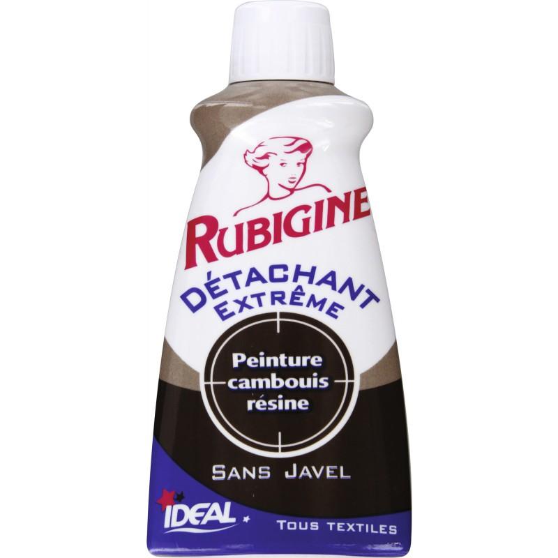 Détachant tâches organiques Rubigine - Flacon 100 ml - Peinture / Camboui / résine