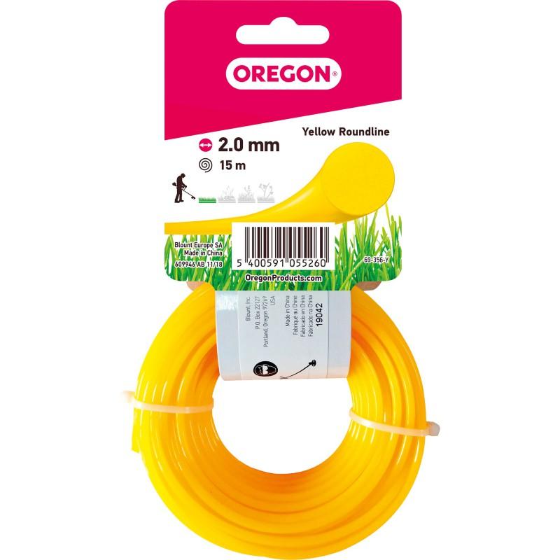 Fil rond pour débroussailleuse Oregon - Longueur 15 m - Diamètre 2 mm