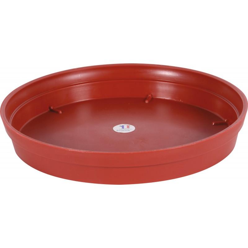 Soucoupe gamme Pop Eda - Diamètre 34,5 cm - Pour Pot 43 l - Rubis