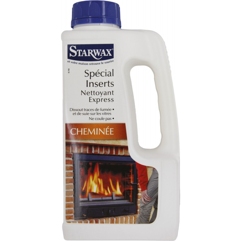 Nettoyant vitre d'insert Starwax - Recharge pulvérisateur - Flacon de 1 l