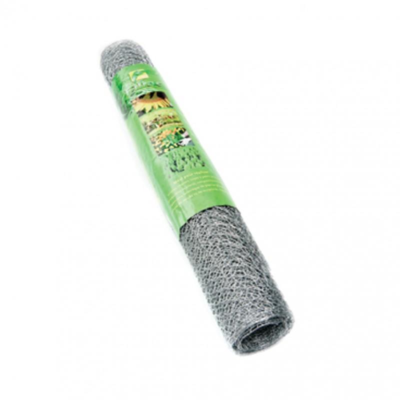 Grillage triple torsion galvanisé Filiac - Longueur 10 m - Hauteur 0,5 m - Maille 13 mm