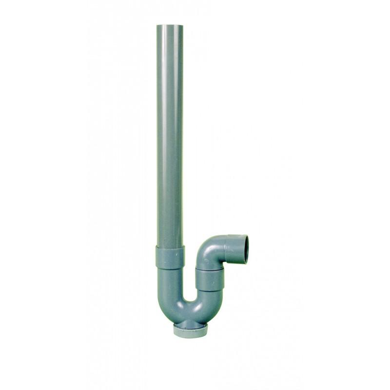 Siphon PVC simple entrée Neptune - Sortie horizontale - Diamètre 40 mm