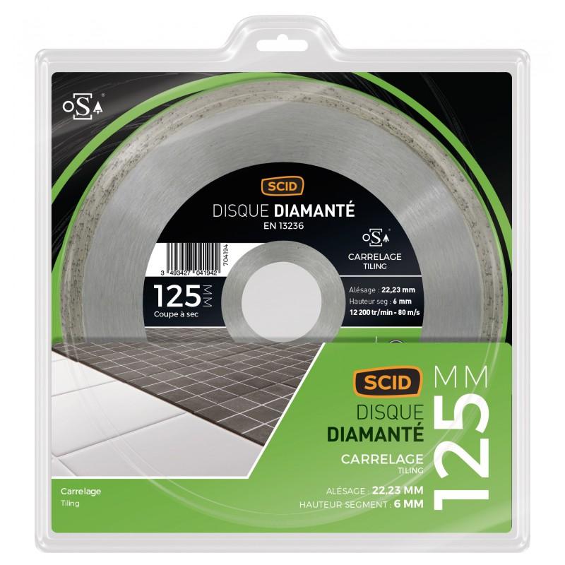 Disque diamant carrelage universel scid diam tre 125 mm for Carrelage universel