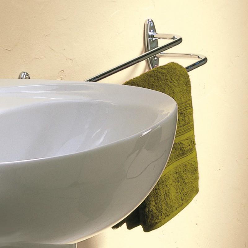 Porte-serviette en acier chromé Godonnier - Fixe - 2 Porte-serviettes